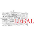 legal word cloud concept vector image vector image