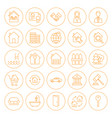 line circle house icons vector image vector image