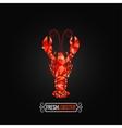 Lobster poly design background vector image