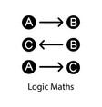 logic maths glyph icon vector image