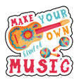make your own music lettering poster vector image
