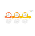 modern infographic timeline 3 option vector image