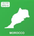 morocco map icon business concept morocco vector image vector image