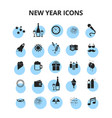 new year icons vector image vector image