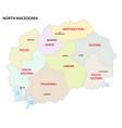North macedonia administrative and political map