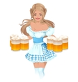 Oktoberfest Beer Festival German girl waitress vector image