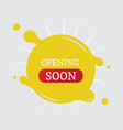 opening soon banner vector image