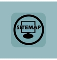 Pale blue sitemap sign vector image vector image
