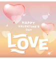 Pink heart balloons vector image