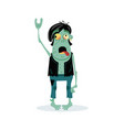 punk rocker zombie character in cartoon style vector image vector image