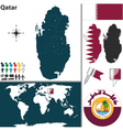 Qatar map world vector image