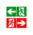 Safe sign the exit icon emergency exit green