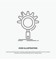 seo search optimization process setting icon line vector image vector image