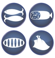 Set of buttons for the kitchen vector image