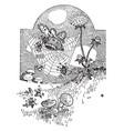 spider web crash vintage vector image vector image