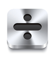 Square metal button perspektive - minus icon vector image vector image