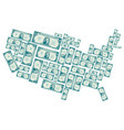 the united states made out of one dollar bills vector image vector image