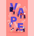 vape shop business and smoking addiction concept vector image vector image