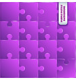 violet plastic pieces puzzle game vector image vector image
