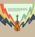 violin classical music concert poster vector image vector image