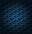 volumetric polygonal star tiles dark blue luxury vector image