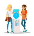 water cooler gossip modern office water vector image vector image