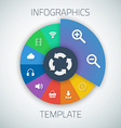 web infographic timeline pie template layout vector image