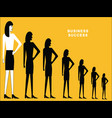 woman standing in row vector image vector image