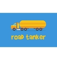 Yellow road tanker of art vector image