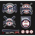Baseball badge logo design For logos vector image