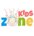 concept of child development kids zone vector image