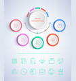 office infographics colorful vector image