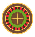 roulette icon flat style vector image