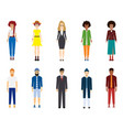 a large group of people young people are standing vector image