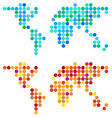 abstract dot world map set vector image