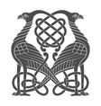 ancient celtic mythological symbol of bird vector image vector image