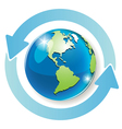 arrows around globe vector image vector image