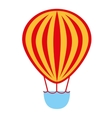 balloon air basket flying icon vector image vector image