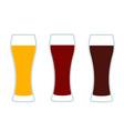 beer glasses three versions vector image