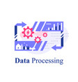 big data processing technology storage vector image