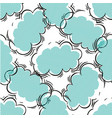 black and blue seamless pattern with clouds vector image vector image