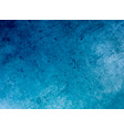 blue grunge surface concrete wall texture vector image vector image