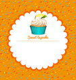 Border design with lemon cupcake vector image vector image