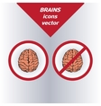 brain icons on white background vector image vector image