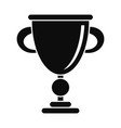 brand gold cup icon simple style vector image vector image