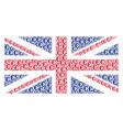 british flag mosaic of euro symbol items vector image vector image