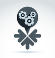 Business and cooperation icon with gears cogs and vector image vector image
