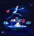 business - running overcoming obstacles concept vector image