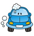 car wash blue vector image