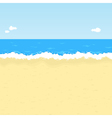 cartoon beach vector image vector image